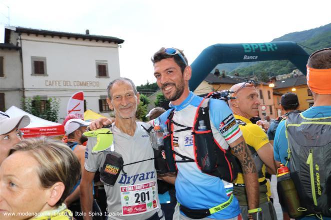 Alan con Marco Olmo, famoso ultrarunne italiano