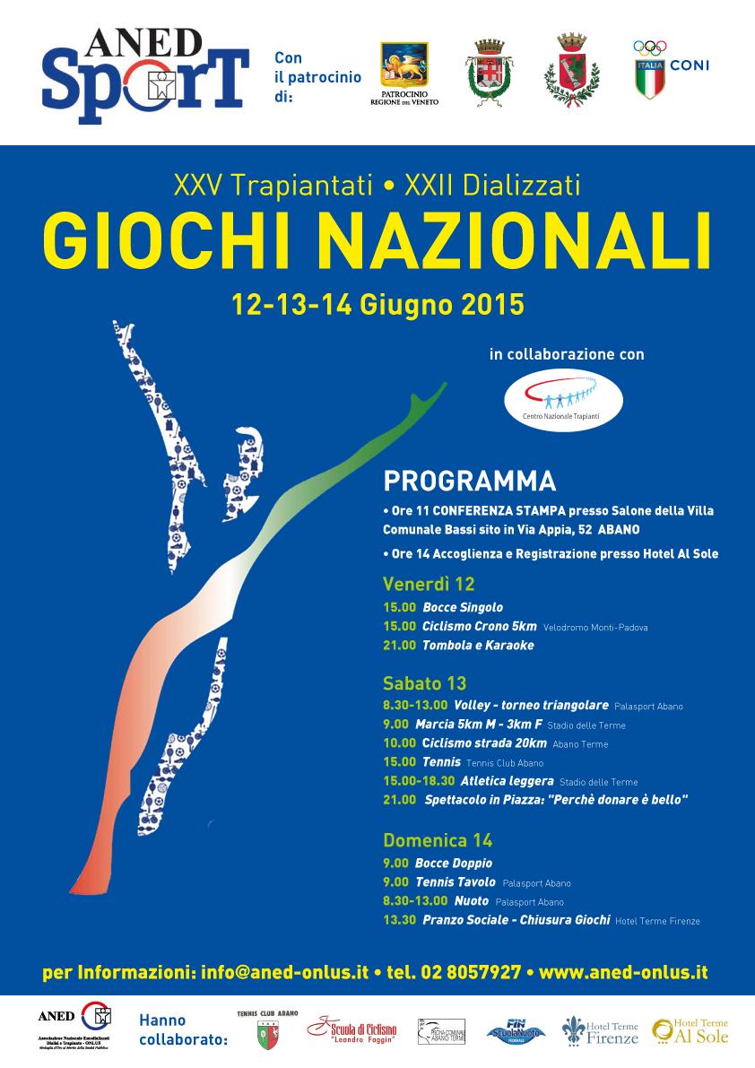 Giochi Nazionali per Trapiantati e Dializzati 2015