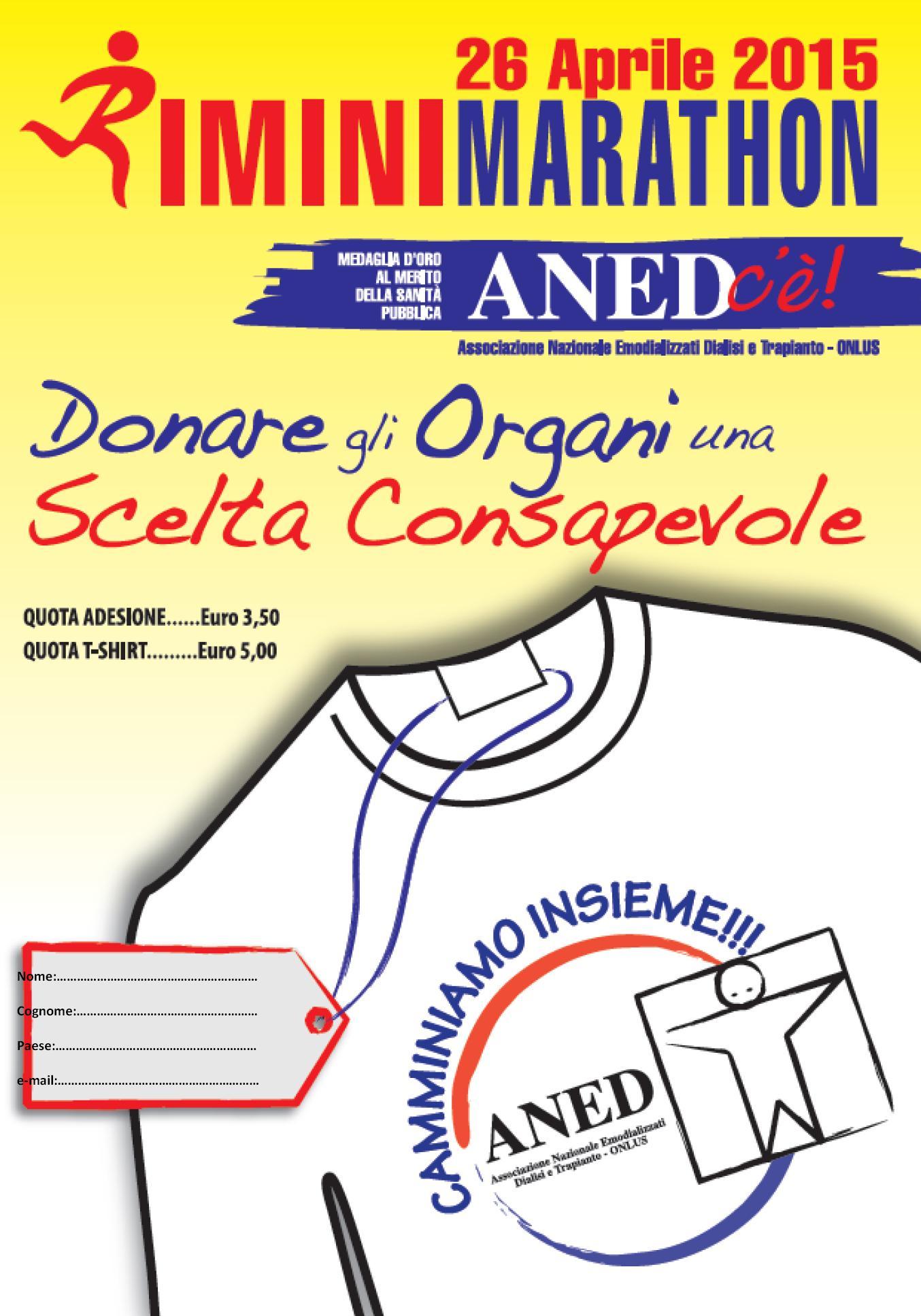 Rimini Marathon con ANED