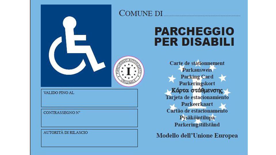 Nuovo contrassegno invalidi europeo