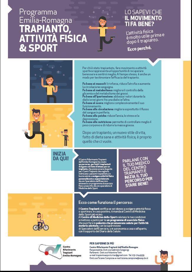Sport e Trapianto in Emilia Romagna
